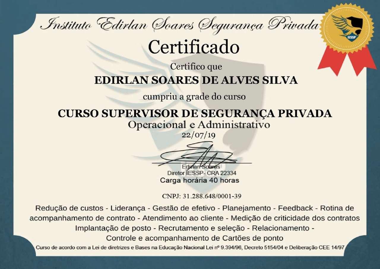 certificado curso edirlan soares